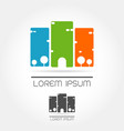abstract city logo icon vector image