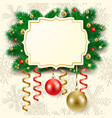 christmas background with label vector image