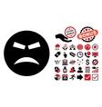 Furious Flat Icon with Bonus vector image