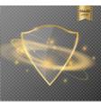 transparent shieldthe banner of privacya sign of vector image