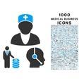 Medical Business Icon with 1000 Medical Business vector image