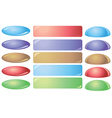 set of colorful buttons for websites vector image vector image