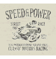 Classic motorcycle racing vector image