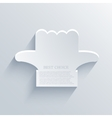 modern hand pointer icon background vector image