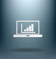 laptop with symbol diagram vector image