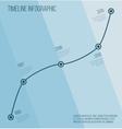 Flat blue diagonal timeline infographic vector image vector image
