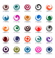 spiral movement in circle shape vector image