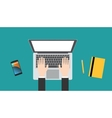 businessman working in a laptop vector image