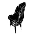 art deco armchair vector image