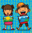 Children drawing competition vector image
