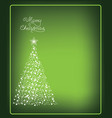 christmas card with christmas tree made from snow vector image