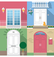 entrance door vector image