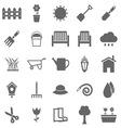 Gardening icons on white background vector image