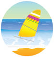 sailboat on the paradise beach vector image