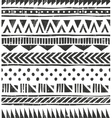 seamless tribal texture Primitive vector image