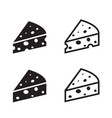 set of cheese icon object vector image