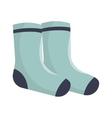 winter socks clothes icon vector image