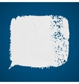 White grunge paint spot on blue background vector image