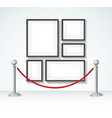picture frame and silver rope barrier constructor vector image