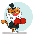 New years tiger cartoon vector image