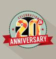 20th Years Anniversary Celebration Design vector image