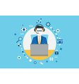 Concept of management and business vector image vector image
