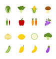 Vegetables and Fruits Icons vector image vector image