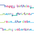 congratulations written from one color strip vector image