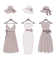 vintage fashion items vector image vector image