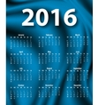 Elegant template for 2016 calendar vector image vector image