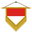 pennant with the flag of monaco vector image