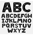 abc bevel bw vector image