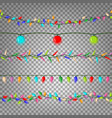 christmas lights seamless flat color vector image