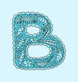 Cute letter B Floral monogram B vector image