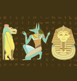 Egypt character design vector image