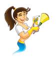 Genie Cleaner Female vector image