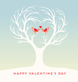 Happy Valentines Day lovebirds vector image