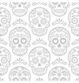 mexican sugar skull seamless pattern vector image