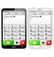 Mobile phones with sms vector image