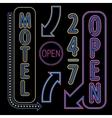 Neon Open Sign vector image