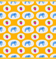 seamless pattern of blue elephants background vector image