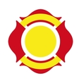 Shield firefighter emergency icon vector image
