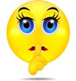 hush emoticon vector image vector image