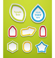 Set of creative icons vector image vector image