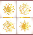 set of gold mandalas vector image