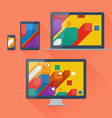 user interface on digital devices vector image