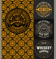 4 logos set with vintage card template vector image