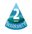 logo in the shape of a triangle 2 year warranty vector image vector image