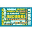 Drink alcohol beverage Relative words cloud vector image