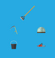 flat icon farm set of tool hothouse cutter and vector image